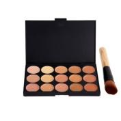 Boolavard New 15 Colours Concealer Palette Kit With Brush Face Makeup Contour