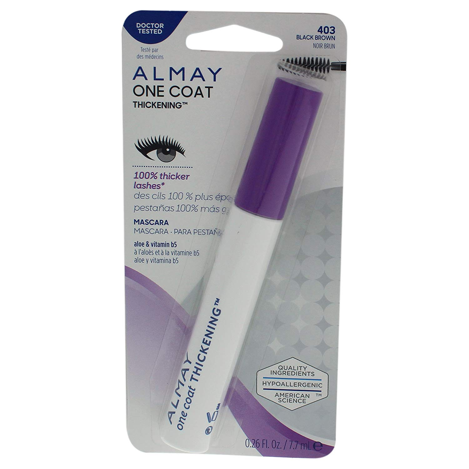 b2516f4e6d4 Almay Thickening Mascara, Duo Packs, Black, 90ml by Almay - Shop Online for  Beauty in Hong Kong