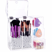 Lifewit Acrylic Makeup Organiser Case Beauty Artist Brushes Box Storage Tool