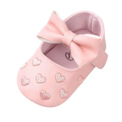 Girls Shoes, SHOBDW Newborn Infant Baby Girls Crib Soft Sole Anti-slip Sneakers Cute Sweet Bowknot Shoes