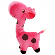 Profusion Cute Cartoon Animal Giraffe Soft Plush Stuffed Toy for Kid Child Gift - Pink