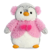 Aurora World 74021 Pompom Penguin Pink Jacket 23cm
