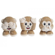18cm Monkey Emoji Plush Toy - Hear No Evil