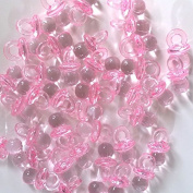 Baby Dummy / Pacifier Plastic Beads 100pc p/bag - Pink