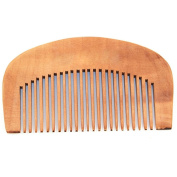 ALCYONEUS Natural Peach Wood Comb Hair Health Care Close Teeth Anti-Static Head Massage