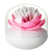 ALCYONEUS 1 Pc Toothpick Cotton Bud Swab Holder Storage Lotus Box Home Decor