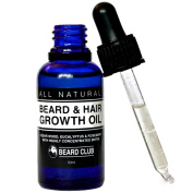 Beard & Hair Growth Oil | 30ml | With Highly Concentrated Biotin | Scented With