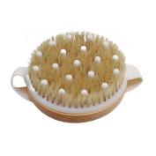 ODN Dry Wet Bath Body Brush Natural Boar Bristle Spa Exfoliator