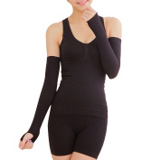 Zhhlaixing Shapewear Arms Sunscreen Massage Sleeve Lengthened Thin Plastic Arm Nightclub Pressure Beam Sleeve Black