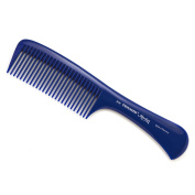 Hercules Sägemann Triumph Master Handle Comb with coarse teeth | Blue - Made in Germany