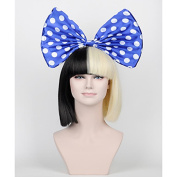 MZP Blue and White dot Bow sia wig big bow accessories