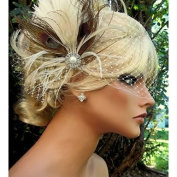 MZP Hand Made Feather Hair Clip Fascinator Headpieces Fascinators 028