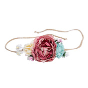 Tieback Flower Crown Belt Hair Band Party Decoration for Baby Toddler and Adult