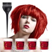 4 x La Riche Directions Semi Perm Hair Colour Pillar Box Red (All Colours Avail) 4x 88ml by La Riche