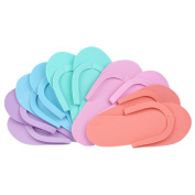 Anself 5 Pairs Disposable Slippers EVA Foam Salon Spa Slipper Disposable Pedicure Thong Slippers