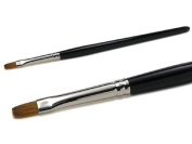 Kolinsky Gel Brush Size 8 – flat (Wood Handle) Red Sable Hair