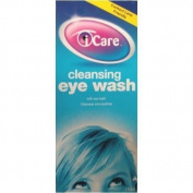 Three Packs Of Icare Cleansing Eye Wash With Eye Bath 110ml
