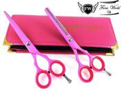 Professional Barber Hairdressing Scissors Ladies Hair Cutting Set Pink 14cm