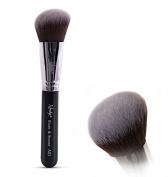 Nanshy Angled Blusher Bronzer Cosmetic Makeup Kabuki Brush Powder Liquid Cream