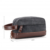 Young & Ming - Vintage Toiletry Bag Cosmetic Bag Travel Bag Shaving Kit Bag Portable Travel Organiser for Men or Women With Handle, Suitable for Travel, Business & Gyms