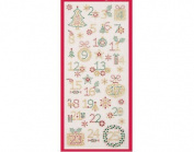 Advent Calendar Numbers - Glitter Dot Stickers For Christmas Crafts