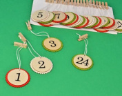 Sale - 24 Large Jumbo Wooden Numbers For Advent Calendars With Pegs