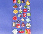 25 Christmas Advent Calendar Number Stickers - Advent Crafts