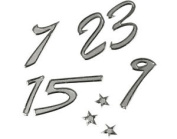 Silver Christmas Advent Calendar Number Stickers For Crafts - Peel Offs Style