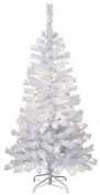 "Star ""kalix"" Outdoor Plastic Christmas Tree With Metal Stand, White, 150 X 75 Cm"
