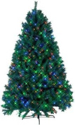 Star 225 X 140 Cm Ontario Outdoor Led-christmas Tree Pisello With Metal Stand,