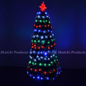 Shatchi 0.9m -90cm Led Pre-lit Fibre Optic Christmas Tree With Snow Effects Xmas