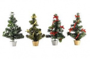 36cm Table Top Christmas Tree With All Decorations Gloden Or Silver Base