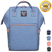 [New Arrival] Nappy Bag Backpack by Lmeison, Fashion and Function in One Bag, Multi-Function Waterproof Travel Backpack Nappy Bags for Baby Care, Large Capacity, Stylish and Durable