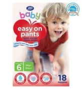 boots baby easy on potty training pants size 6 extra large x18