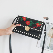 female small square package national Embroidery package fashion Wild Shoulder bag