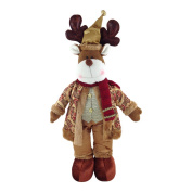 Gold Standing Reindeer 58cm Christmas Decoration Rudolph Ornament Figure Xmas