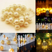 20 Led Battery Oprated Gold Balls Fairy String Lights Wedding Party Decoration