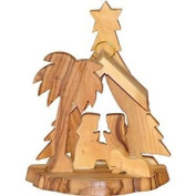 Hand Carved Nativity Olive Wood Christmas Ornament From Bethlehem Ow-orn-004