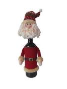 Luxury Christmas Wine Bottle Covers, Santa Or Snowman Santa
