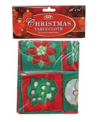 Christmas Party Table Cover Cloth Dining Red Easy Wipe Decor Festive Decoration