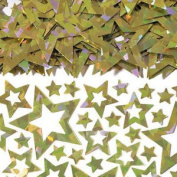 Christmas Party Table Confetti Gold Star Shimmer Prismatic Beautiful