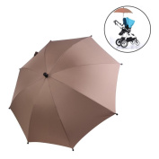 SLC Baby Stroller UV Protection Clip-On Umbrella Stand Holder 360 Degrees Adjustable Sun Canopy Parasol for Pram Cycling Bicycle Wheelchair PushChair buggy