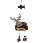 Hanging Tartan Moose Christmas Decoration By Heaven Sends