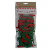 Merry Christmas Banner Green And Red - Bunting Garland Xmas Party Decor Flag