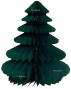 Honeycomb Christmas Decorations - 2 X 25cm Green / Blue Christmas Trees