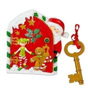 Kids Magical Santa Door And Golden Santa Key - Wall / Skirting Board Christmas