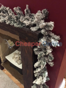 2.7m (9ft) Long Snow Flocked Canadian Pine Christmas Garland