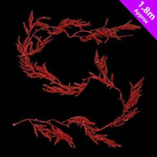 180 Cm Glitter Fern Christmas Party Decoration Garland - Red