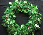 Holly Tinsel Wreath Door Decoration Christmas Christmas Wreath