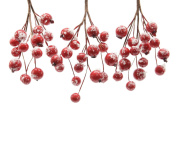 6 X Christmas Red Berry Hangers With 'snow' Dusting Wreaths Garlands Floristry
